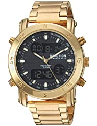 Kenneth Cole REACTION Mens Quartz Metal and Stainless Steel Casual Watch, Color:Gold-Toned (Model: RKC0217003)