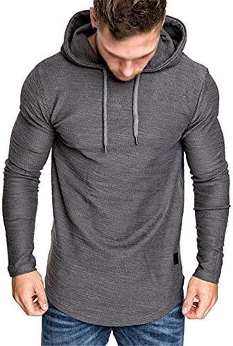 Cot-Oath Mens Workout Sweatshirt Athletic Hoodies – Sport Sweatshirts Workout Hoodies for Men Solid Color Fleece Pullover