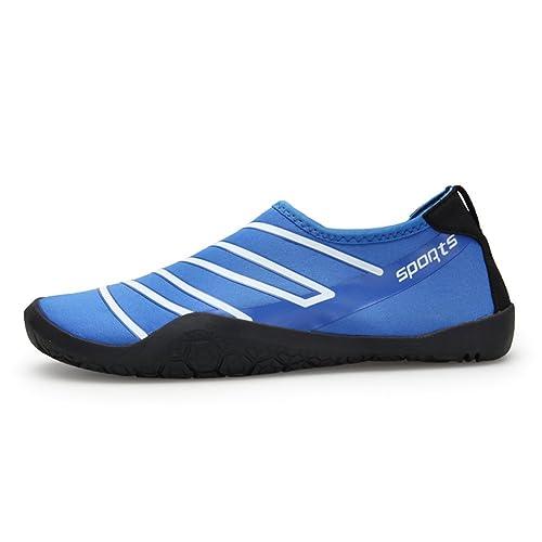 Fexkean Hombres Mujeres Zapatos de Playa Agua Natación Descalzo Secado rápido Transpirable para Buceo Surf Yoga Brillan en la Oscuridad