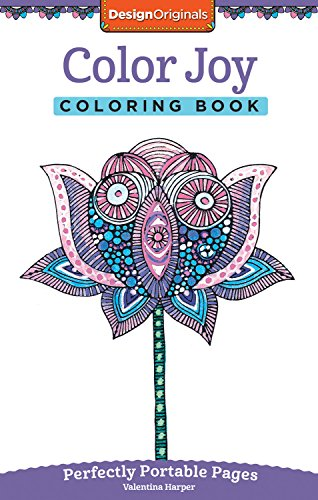 Color Joy Coloring Book: Perfectly Portable Pages (On-the-Go Coloring Book) (Design Originals) Extra-Thick High-Quality Perforated Paper; Convenient 5x8 Size is Perfect to Take Along Wherever You (Joy Coloring Page)