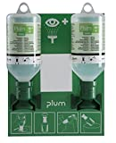Plum 46948 Small Open Eyewash Station, 11'' Height, 3.25'' Wide, 8.5'' Length, 16.9  fl. oz., Polystyrene