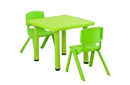 Tavoli In Plastica Impilabili.Wfeng Tavoli E Sedie Per Bambini In Plastica Con Staffa