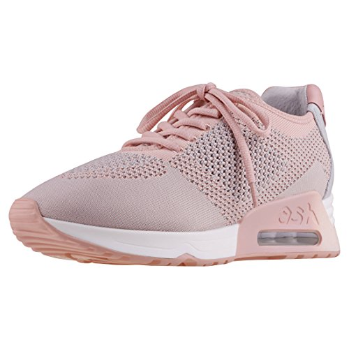 Ash Lucky Knit Nappa Wax Womens Trainers tPn7TXDh