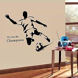 Walplus Wandsticker Wand Aufkleber Papier Kunst Dekoration Fußball Stürmer...