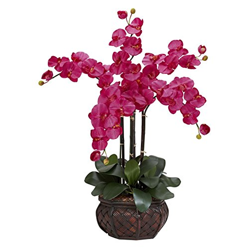 Nearly-Natural-1211BU-Phalaenopsis-with-Decorative-Vase-Silk-Flower-Arrangement