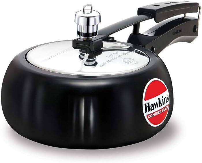 Hawkins CB20 Hard Anodised Pressure Cooker, 2-Liter, Contura Black