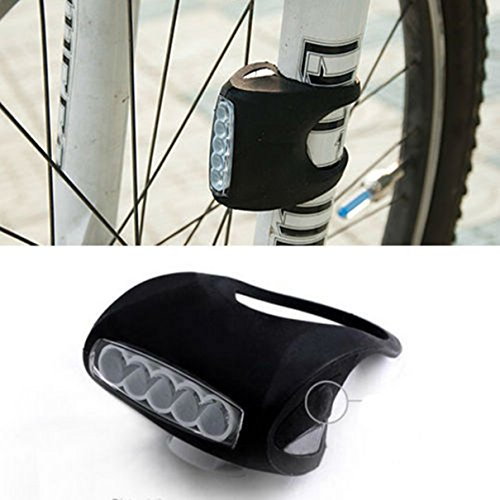 1 Set Master Unique 7x LED Flashlight Silicone Bike Lights 3 Mode Night Light Bicycle Cycling Front Head Rear Side Frog Safety Headlight Waterproof Camping LEDs Flashlights Torch Lamp Color Black -  Thailand