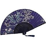 [Chinese & Japanese] Retro Silk Hand Fan Portable Folding Fan Handheld Fan NO.05