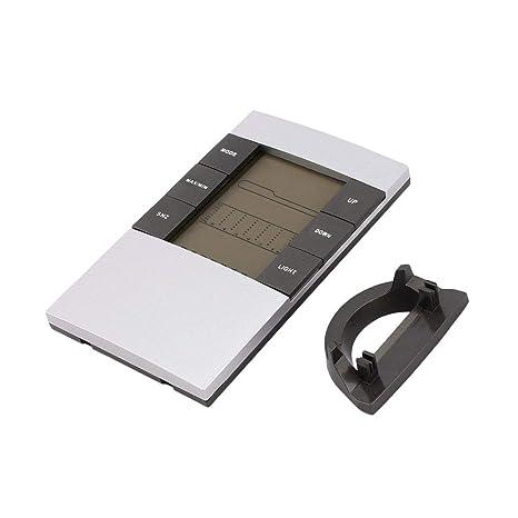 Wafalano Digital LCD Termómetro Higrómetro Electrónico Temperatura Interior Monitor de Humedad Reloj Estación meteorológica Aplicación en