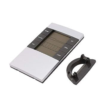 Wafalano Digital LCD Termómetro Higrómetro Electrónico Temperatura Interior Monitor de Humedad Reloj Estación meteorológica Aplicación en el hogar: ...