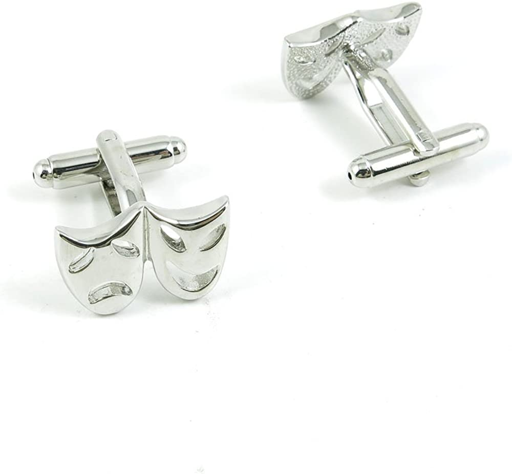 Cufflinks Cuff Links Classic Fashion Jewelry Party Gift Wedding 877471 Laughing Crying Masks