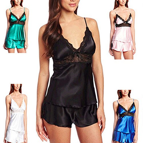 Big Promotion! Women's Lingerie WEUIE Fashion Women Lace Bow Underwear Sleepwear Nightdress Knicker (2XL, Green)