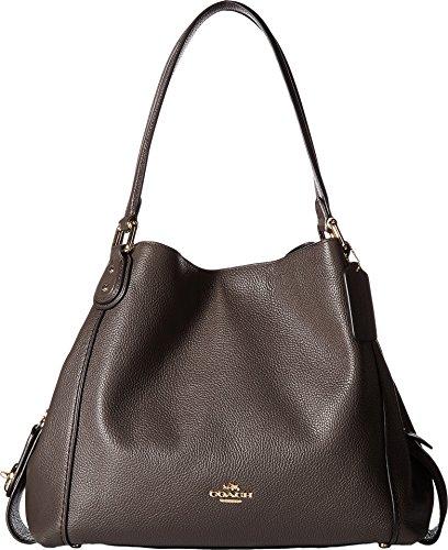 COACH Women's Polished Pebbled Leather Edie 31 Shoulder Bag Li/Chestnut Handbag