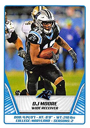 new style 90ecc 6f238 Amazon.com: 2019 NFL Stickers Collection #437 DJ Moore ...