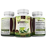 Green Tea Extract EGCG Polyphenols Supplement Stomach Fat Burner Pills Energy Antioxidant Detox Weight Loss Belly Complex Diet Vitamin 500mg Capsules Thermogenic Metabolism Booster Flush For Women Men