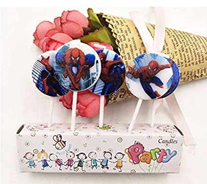 AMFIN Pack of 5 Spider Man Spiderman CandleBirthday ThemeSpider