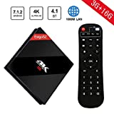 Cheap [2018 Version 3G 16G TV Box ] EstgoSZ Android 7.1 Smart TV 4K Set Top Box Amlogic S912 CPU Support H.265 Decoding/2.4G/5.8G WIFI/BT 4.1/1000M LAN