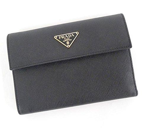 プラダ 三つ折財布 サフィアーノブラック(黒) 1M0510 [中古] B0775SC54W