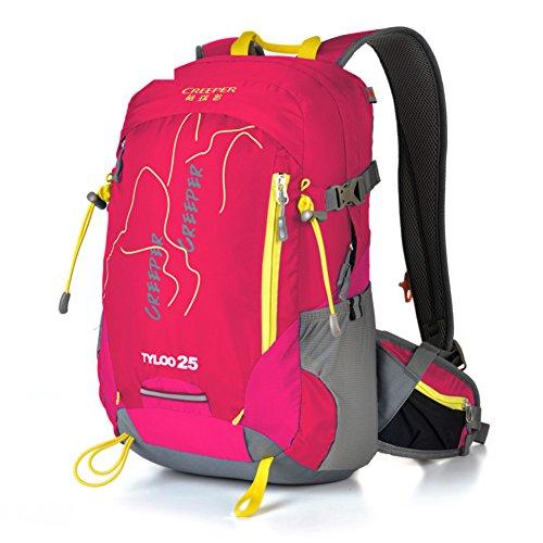 Escursionismo zaino/pacchetto ciclistico/Impermeabile e traspirante ultra leggero-Rose Red 25L