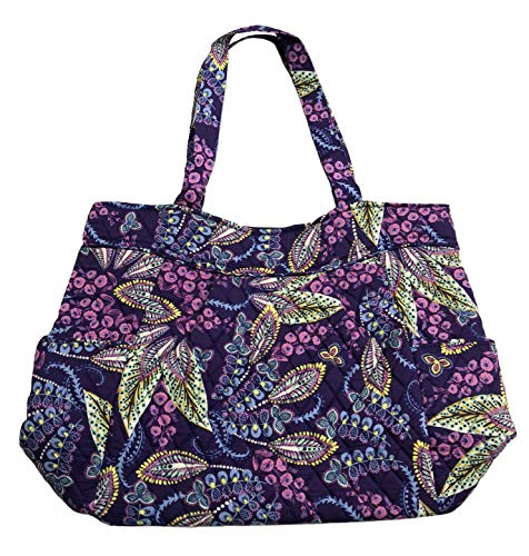 (Vera Bradley Pleated Tote (One Size, Batik Leaves))