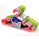 MAZIMARK-''5Pcs Plastic Children Baby Closet Hook Coat Clothes Garment Hanger Drying Rack''