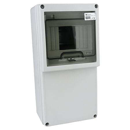 distribution box ip65 6module wet room power distribution fuse box  surface-mounted 6 8200 m-l 1135: amazon co uk: diy & tools