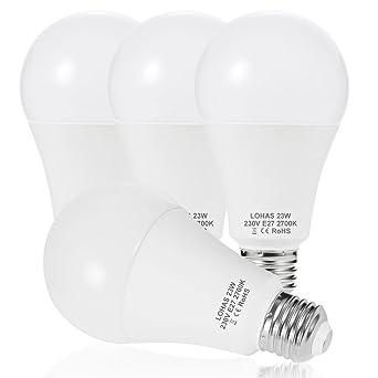 23 W (200 W) Bombilla LED E27, LOHAS No-Regulable rosca Edison