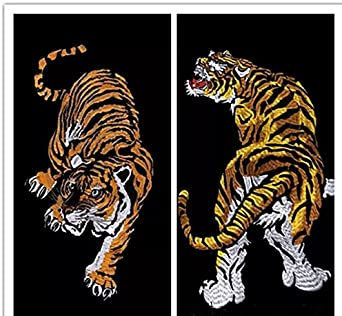 TheFoud Tiger Patch for Clothes Applique Craft DIY Accessories