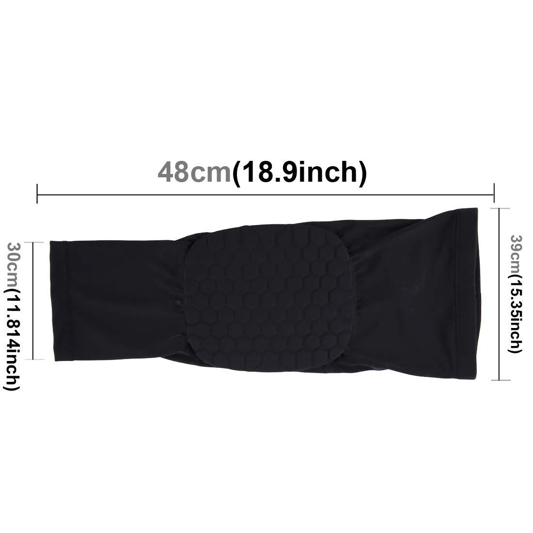 Anstorematealliance Sports&Entertainment Sports&Entertainment Factory 1 PC Beehive Shaped Sports Collision-Resistant Lycra Elastic Knee Support Guard, Long Version, Size: XL(Black) (Color : Black)