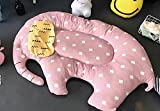 Personality Polygon Animal Fenced Play Mat, Extra-Thick for Kids - Flannel 55 inch by HugeHug(elephant)