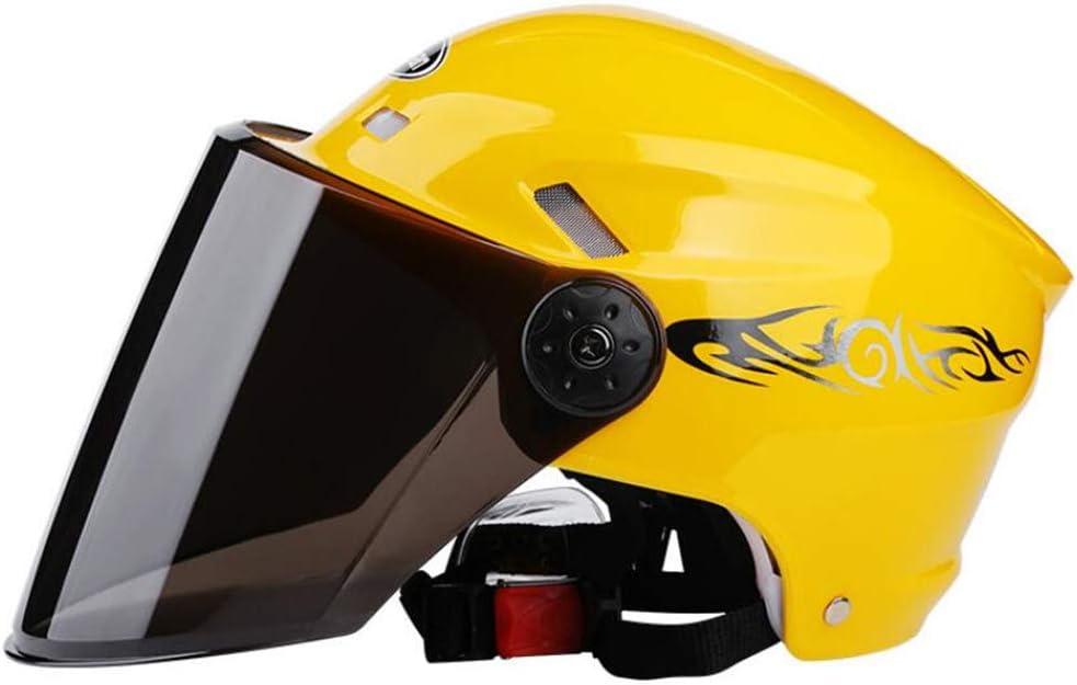 casco per bicicletta Ecloud Shop Mezzo casco modulare Flip up Visiera casco per auto elettrico Sunshield