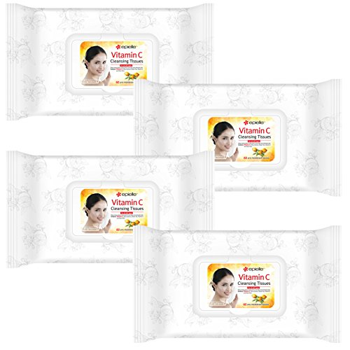 (Epielle Vitamin C Facial Cleansing Tissues, 60ct (4 Pack) )