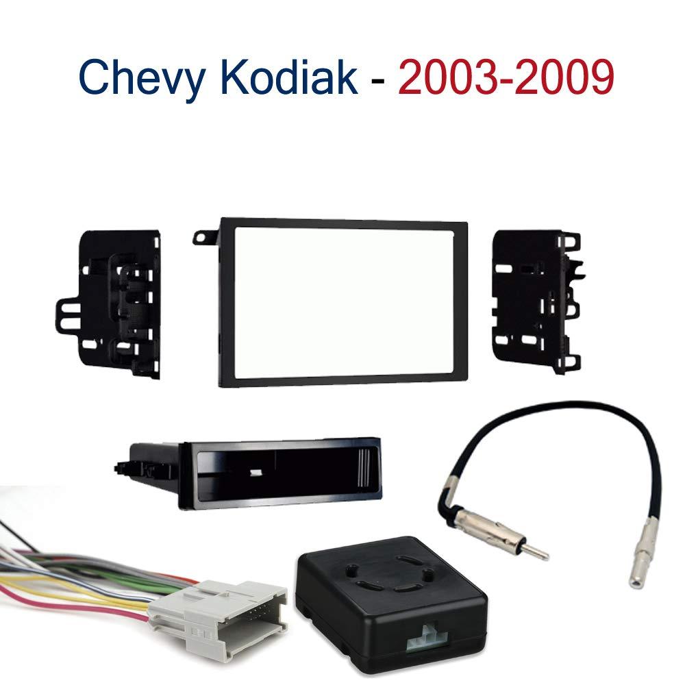 Chevy Kodiak 2003-2009 Single or Double DIN Stereo Radio Install Dash Kit