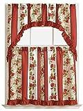 GoodGram Apples On Vine Complete 3 Pc. Kitchen Curtain Tier & Swag Set For Sale