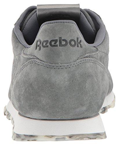 Reebok Womens CL Lthr Shmr Fashion Sneaker Alloy/White/Pewter uMBA9R4