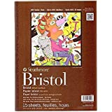 "Strathmore 475-3, 400 Series Bristol, 2-Ply Vellum, 9""x12"" Tape Bound, 15 Sheets"