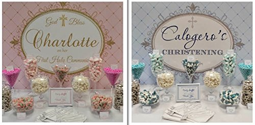 Candy Buffet Kit for Communion, Christening or Confirmation Personalized Theme Candy Jars