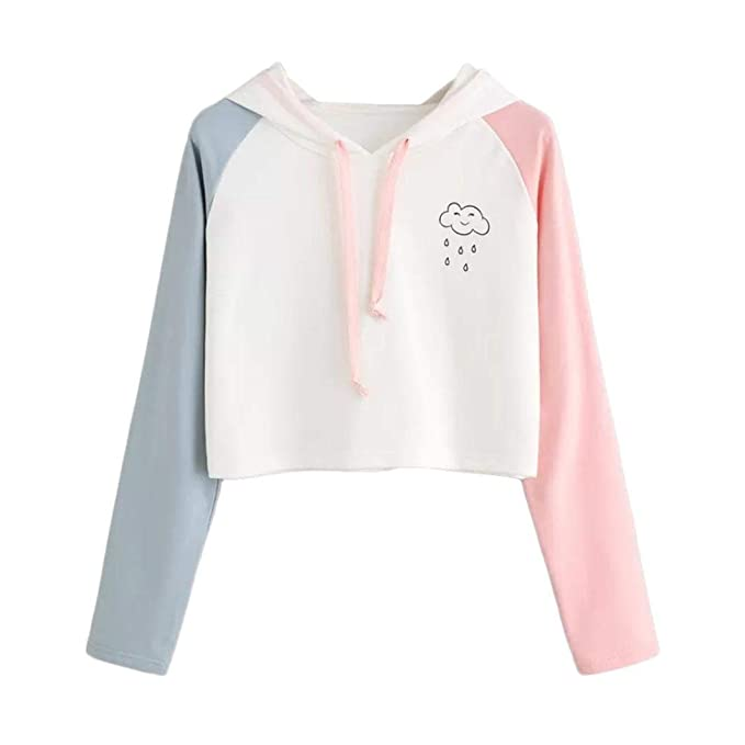 Damen 2018 Herbst Langarm Hoodie,TWIFER Sweatshirt mit Kapuze Winter  Pullover Tops 63e37a0101