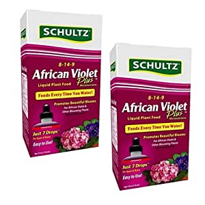 Schultz SPF44900 African Violet Plus Liquid Plant Food 8-14-9, 4 oz (2 Pack)