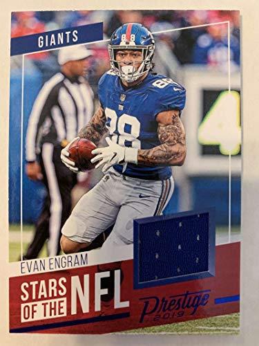 2019 Prestige Stars of the NFL Xtra Points Blue Jersey MEM #21 Evan Engram New York Giants Official Panini Football Trading Card from 2017 Prestige Football