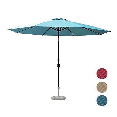 C Hopetree 11 Foot Large Shade Outdoor Patio Market Umbrella, Collar Tilt, 8