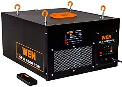 WEN 3410 3-Speed Remote-Controlled Air Filtration System from Great Lakes Tool MFG INC
