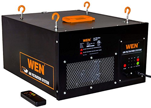 - WEN 3410 3-Speed Remote-Controlled Air Filtration System (300/350/400 CFM)