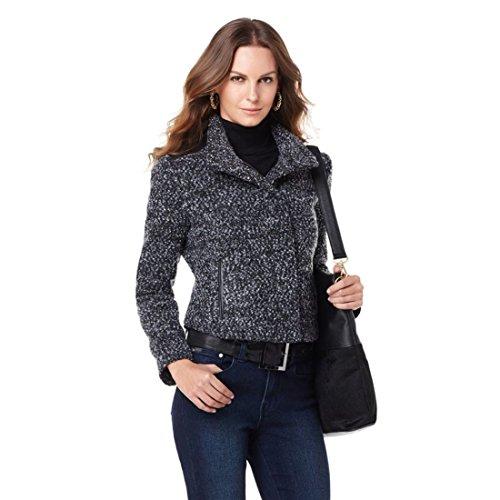 Leather Trim Tweed - 9