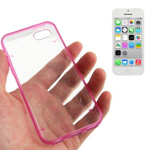 """iPhone 5C Hülle / Case / Cover in pink mit transparenter Rückwand aus hochwertigem Polycarbonat im """"Bumper-Case-Style"""" -ORIGINAL nur von THESMARTGUARD-"""