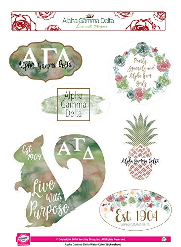 Alpha Gamma Delta - Sticker Sheet - Watercolor Theme