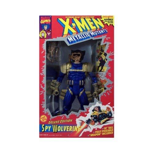 "Xmen Metallic Mutants Deluxe Edition Spy Wolve 10"" Fully Poseable Doll"