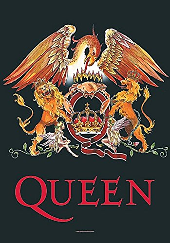 (Queen Crest large fabric poster / flag 1100mm x 750mm (hr) )