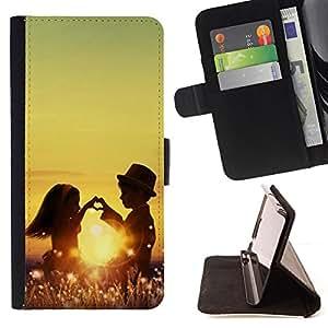 - Cute Love COuple - - Monedero PU titular de la tarjeta de cr????dito de cuero cubierta de la caja de la bolsa FOR HTC Desire 820 RetroCandy