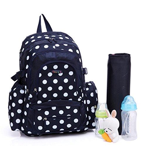 BigForest Multifunction Large capacity Mummy Backpack Travel Bag Maternity Handbag Baby Diaper Nappy Changing Bag Blue
